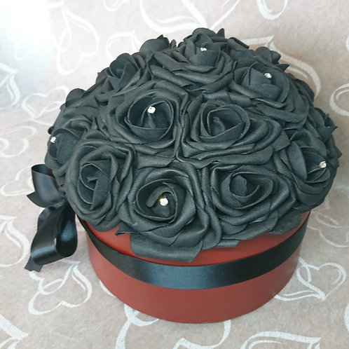 Black Rose Hat Box