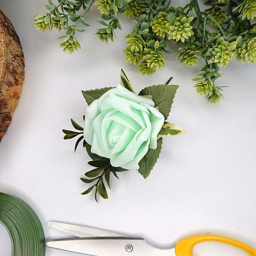 Mint Rose Buttonhole or Lapel/Wrist/Handbag Corsage