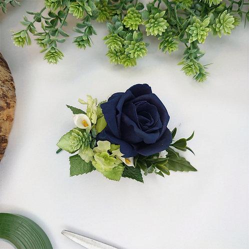 Navy Rose Lapel/Wrist/Handbag Corsage