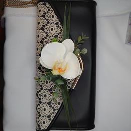 Orchid handbag corsage