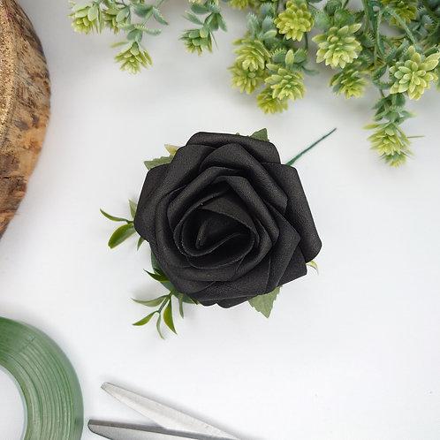 Black Rose Buttonhole or Lapel/Wrist/Handbag Corsage