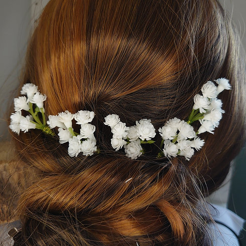 Set of Gypsophila Hair Pins