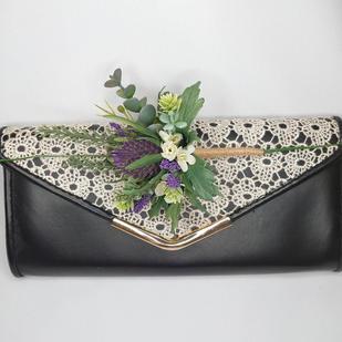 Thistle handbag corsage