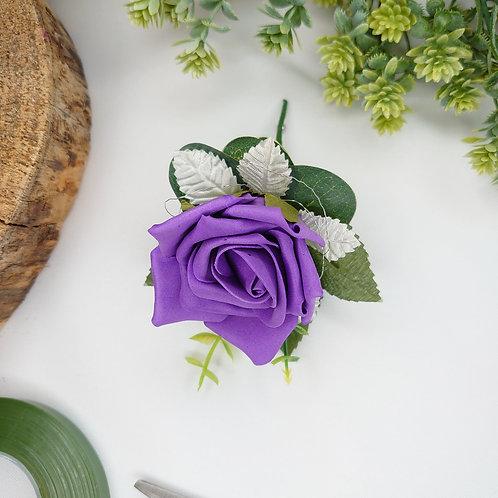 Purple Rose Lapel/Wrist/Handbag Corsage