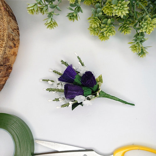 Heather and Thistle Buttonhole