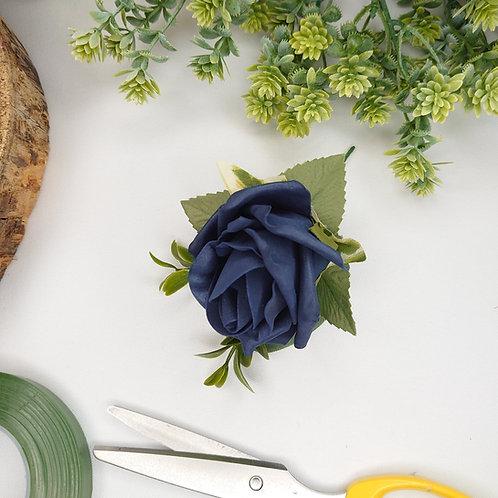 Navy Rose Buttonhole or Lapel/Wrist/Handbag Corsage