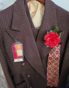 Red Carnation Buttonhole