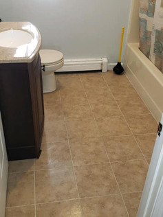 New tile for this client's bathroom.