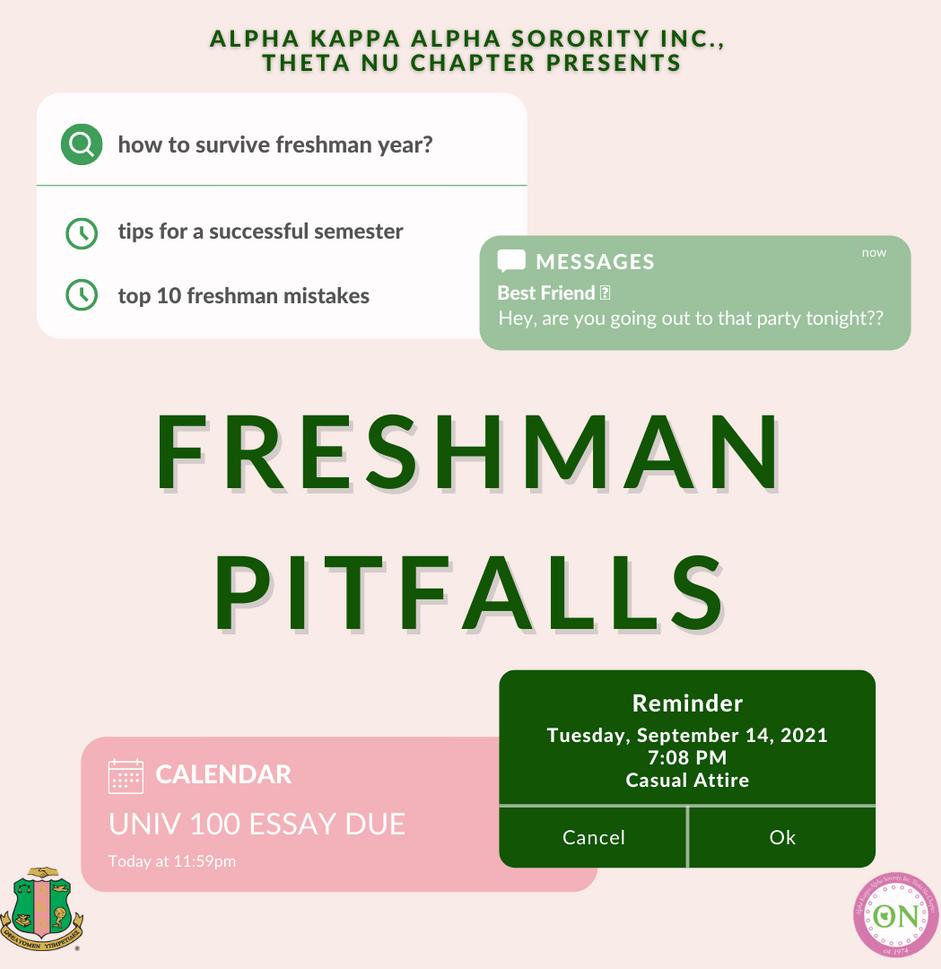 Freshman Pitfalls