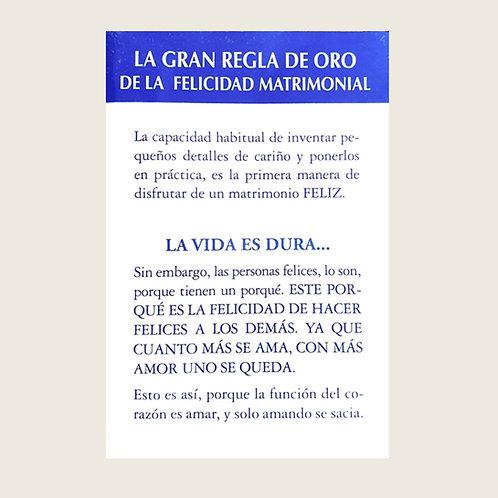 """Libro """"La gran regla de oro de la felicidad matrimonial"""" Dólares"""