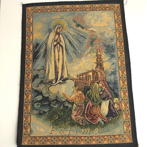V020 Tapiz Italiano  La Virgen de Fátima y los Pastorcitos