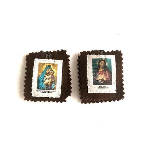 ME001 Escapulario Virgen María y Jesús Misericordia