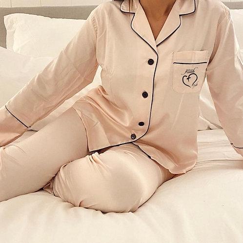 Pijama rosa Dólares. Tallas reducidas
