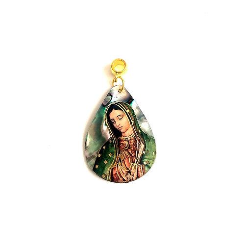 J061 Medalla Nácar La Virgen de Guadalupe