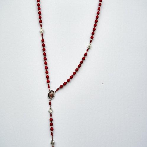 MR005 Rosario rojo, hilo rojo, medallas de San Benito  . Dólares