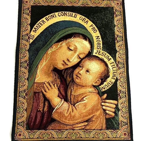 V023 Tapiz Italiano La Virgen María y El Niño Jesús