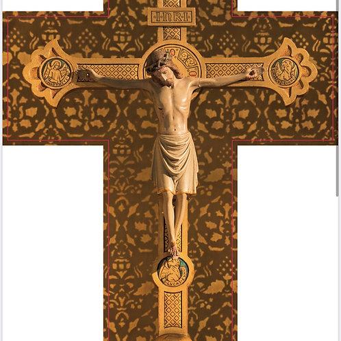 Cruz color crema con Oración de Sanación V007 Dólares