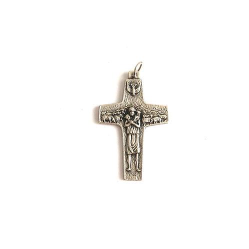 J058 Cruz Pectoral Del Papa Francisco representa El Buen Pastor