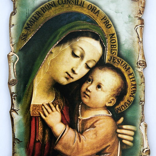 Cuadro de la Virgen y Jesús. Dólares
