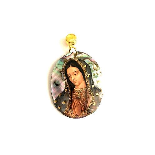 J060 Medalla Nácar La Virgen de Guadalupe