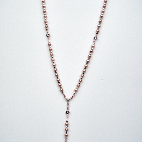 Rosario perlas, hilo rosa MR008 . Dólares