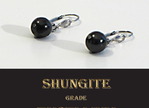 Boucles d'oreilles en Shungite
