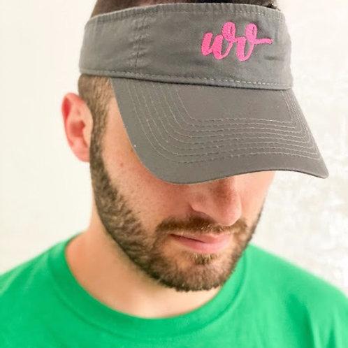 Dark Gray Distressed Visor with WVBHI Logo
