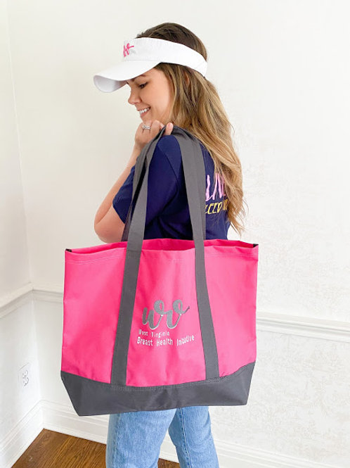 Pink Canvas Swag Bag with WVBHI Logo