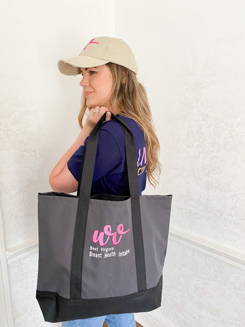 Gray Canvas Swag Bag with WVBHI Logo