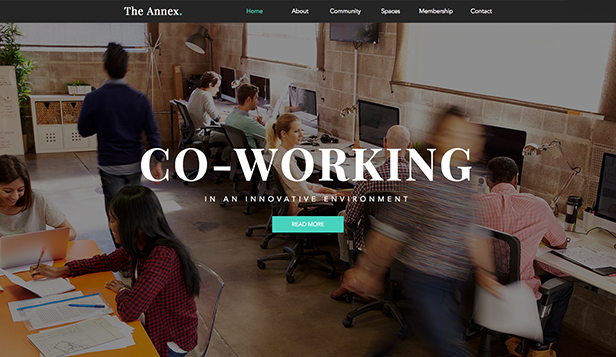 See All Templates website templates – Coworking Space