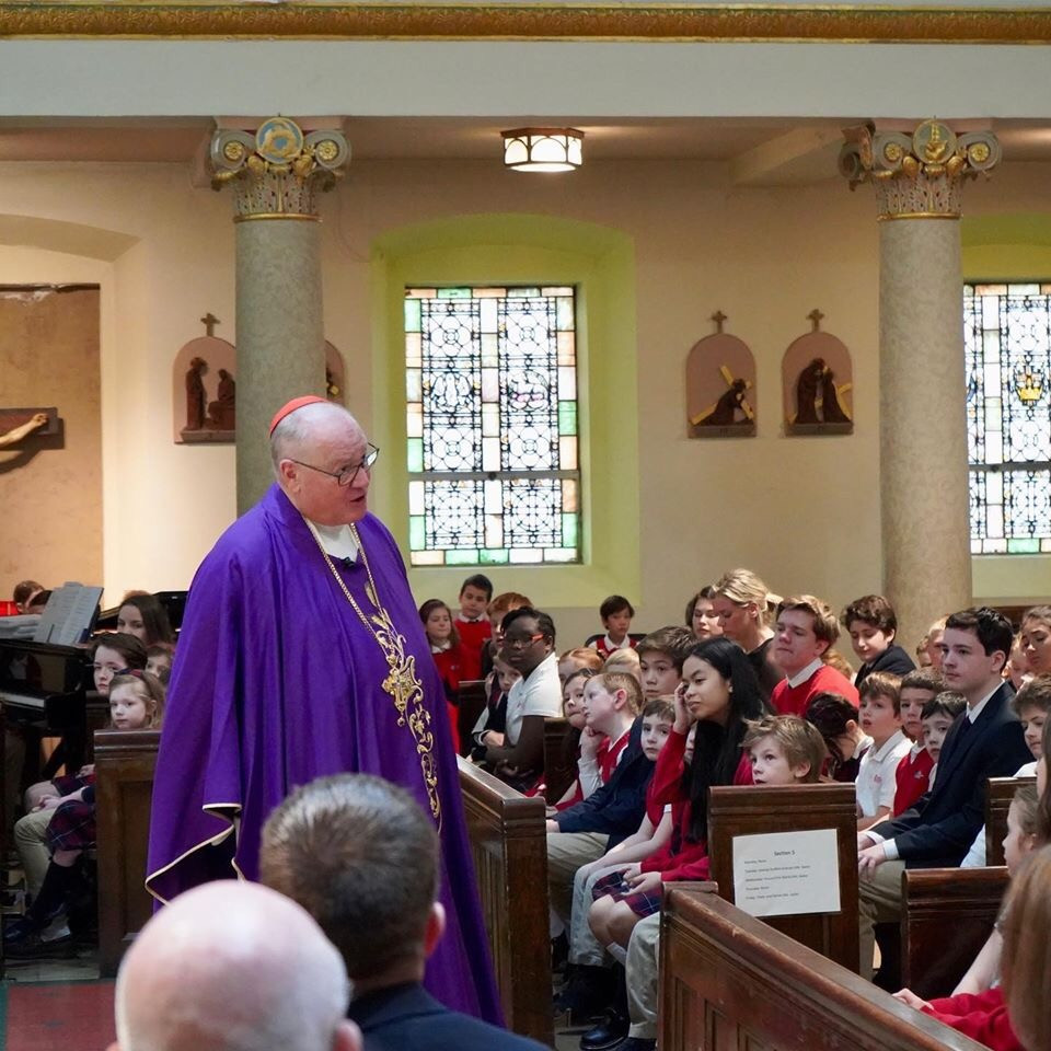 Cardinal Dolan visits our school!