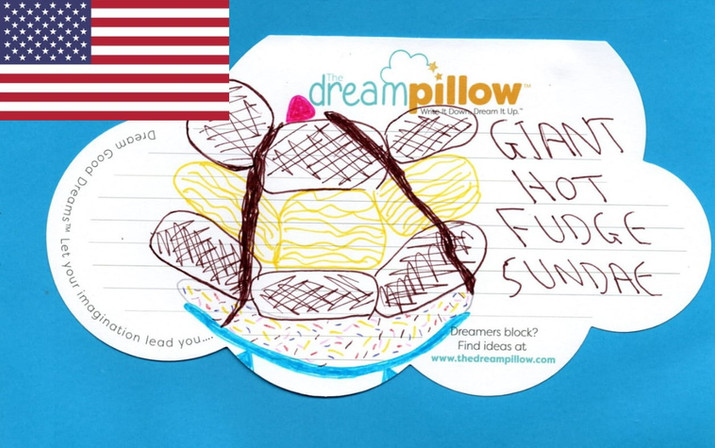 Chasta from Salyersville Kentucky said her child's favorite dream was eating a giant hot fudge sundae. When children don't want to draw an adult can do it for them.