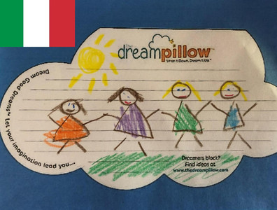 Roberta is from Italy. She sent in her daugter's dream wish to be able to play with all her Kindergarten friends again.