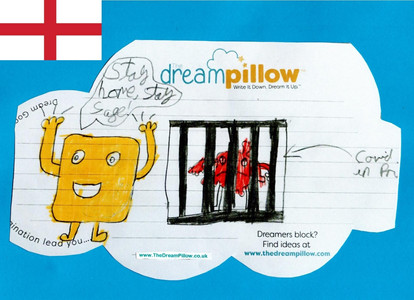 """In the second part of this dream """"Mr Soap"""" has covid locked up (or down)"""
