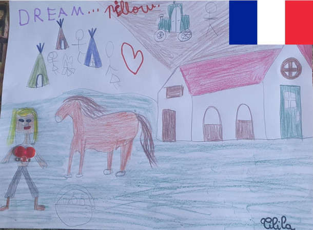 Tiliya is seven years old from Poissy in France. She likes to dream about having all her friends camping on her own ranch / farm