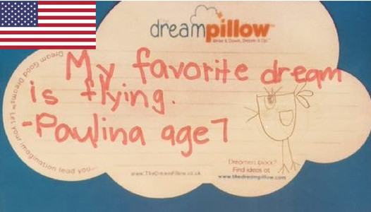Paulina is 7 from Sunnyvale California. her best dream is to fly as a bird with the wind flowing through her feathers.
