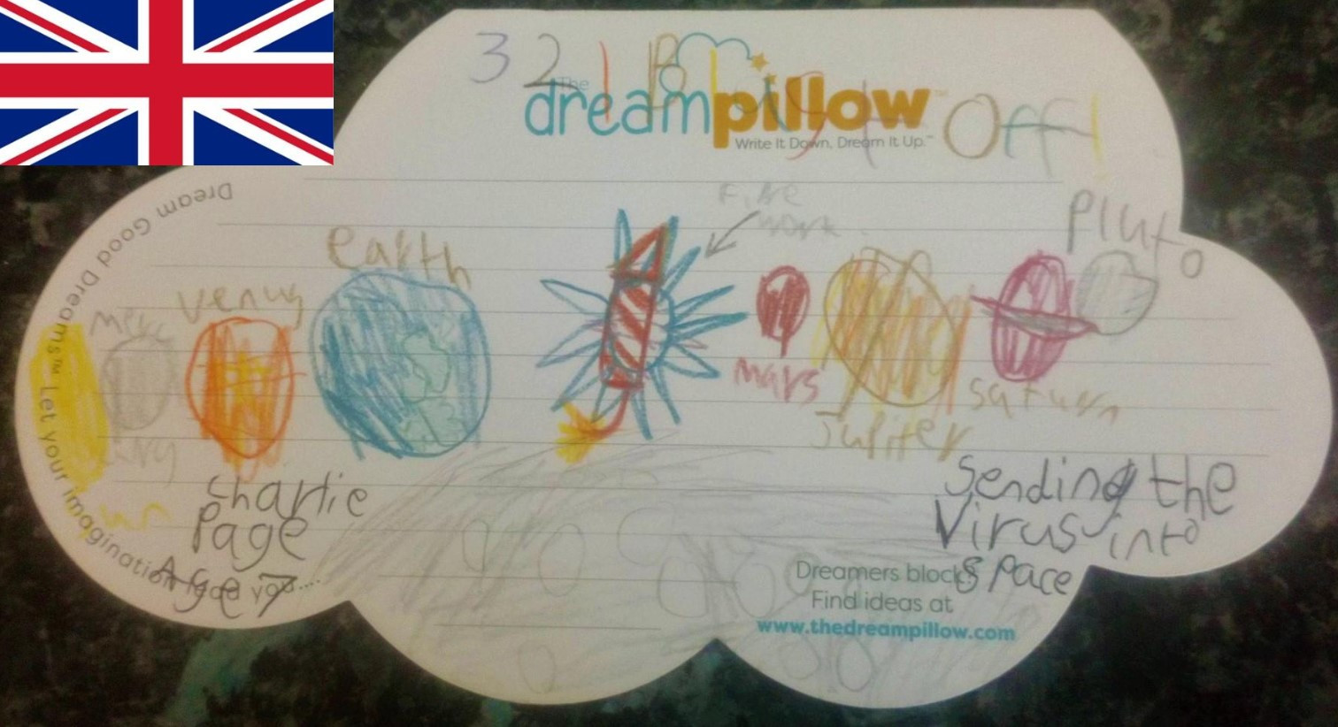 The next three subjects are typical of the determination in the dreams many children have to be rid of this Corona Virus