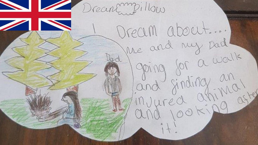 Good Dream No. 8 is drawn for us by Isabella (nearly 10) from Rugely.