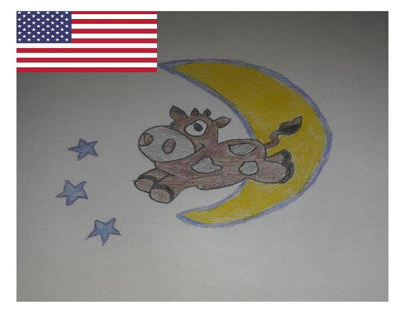 Madison is from Carnesville, Georgia and has a real artistic talent....her favorite dream is the coming to life fantasy of the cow jumping over the moon.