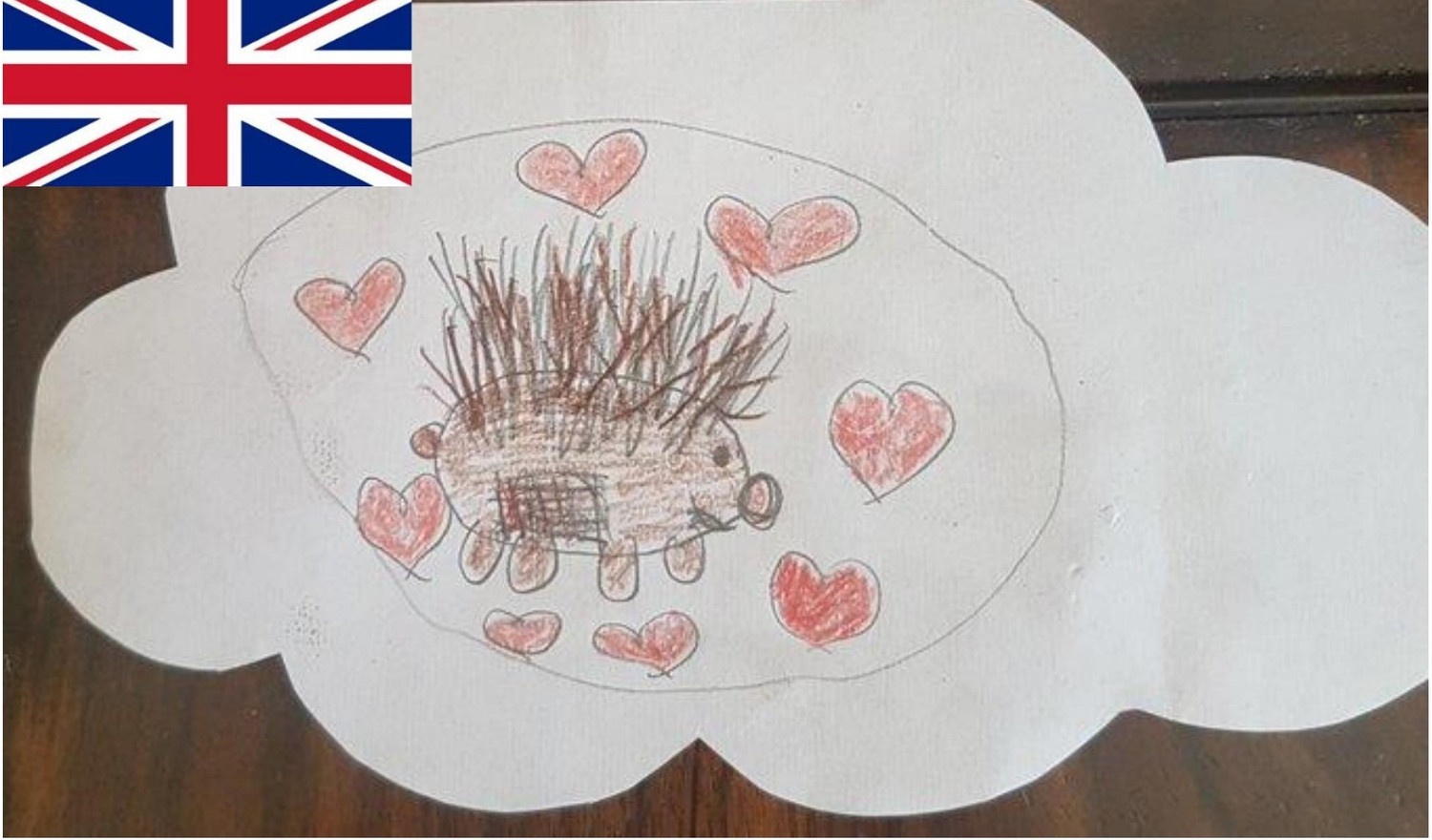 This is the second part of Isabella's dream where the British hedgehog  (a small Porcupine) has recovered and is feeling the love