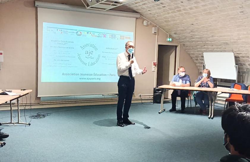 M. Jean-Marc Boursier, représentant la Fondation Boursier, présentant les actions de la Fondation Boursier.