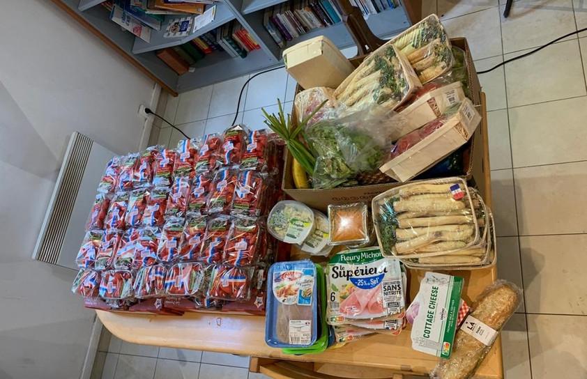réception d'aliments
