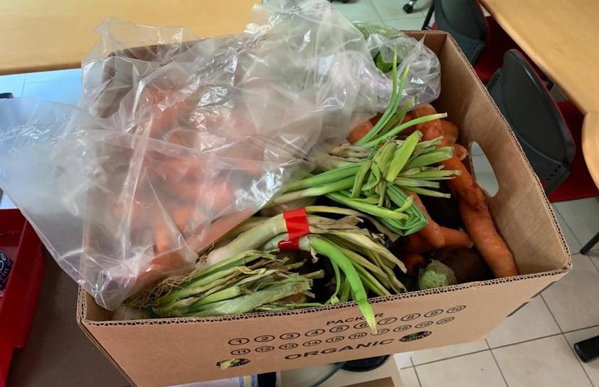 réception de légumes