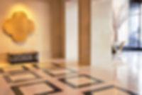 tile flooring in office lobby