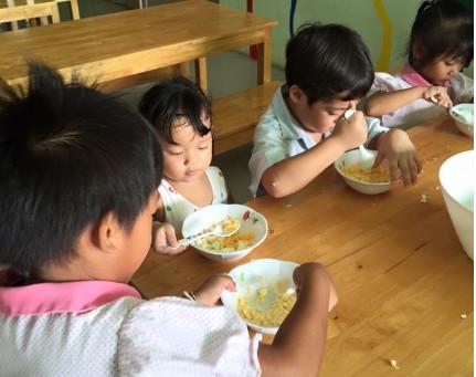 การทำอาหารของเด็กๆ
