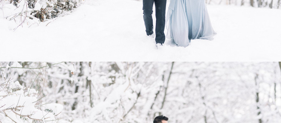 Swoon over this snowy Anniversary session