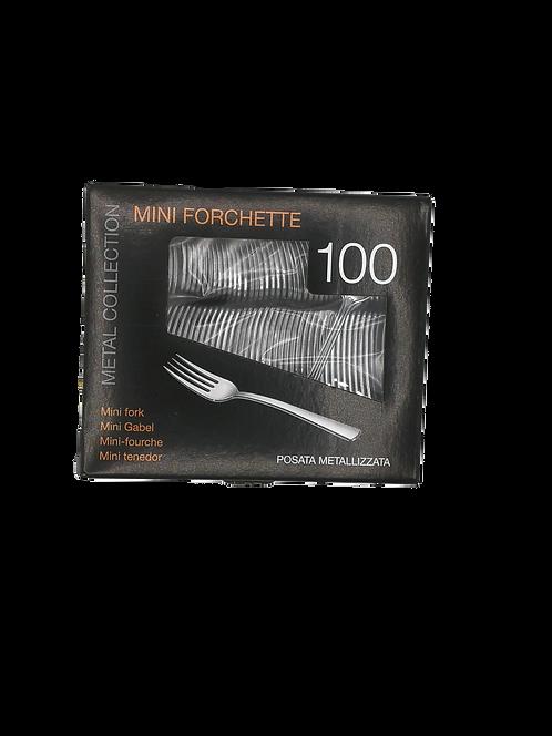Forchetta Plastica Silver/Metal 100pz cm10