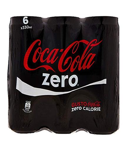 cocacola zero lattina 6 x 33cl