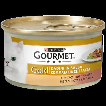 GOURMET GOLD DELIZIE MANZO/POLLO GR.85X4