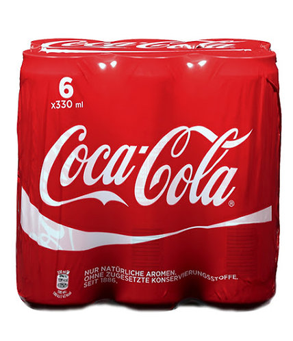 cocacola lattina 6 x 33cl